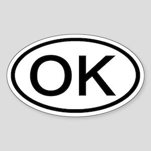 Oklahoma - OK - US Oval Oval Sticker
