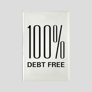 100 Percent Debt Free Rectangle Magnet