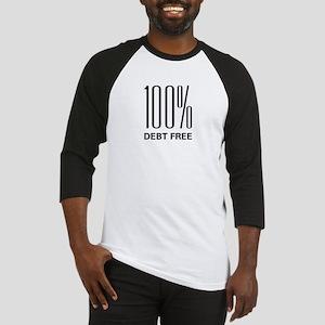 100 Percent Debt Free Baseball Jersey
