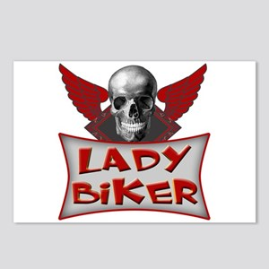 Lady Biker Postcards (Package of 8)