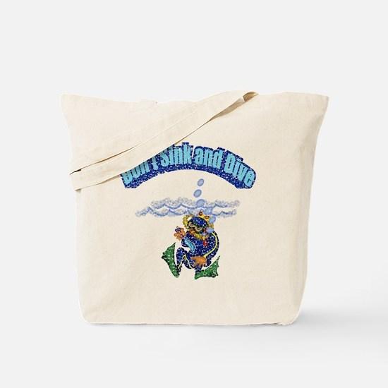 Funny Diving Tote Bag