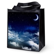 Silent Night Reusable Grocery Tote Bag