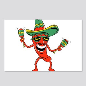 Hot Mexican Pepper Postcards (Package of 8)