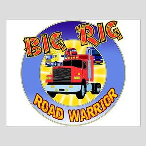 Big Rig Trucker Small Poster