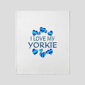 Yorkie Throw Blanket