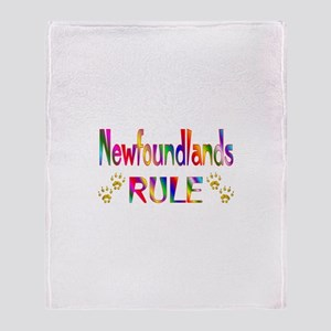 Newfoundland Throw Blanket