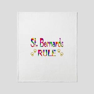 St. Bernard Throw Blanket