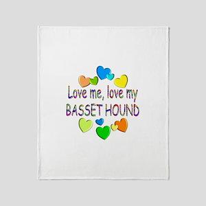 Basset Throw Blanket