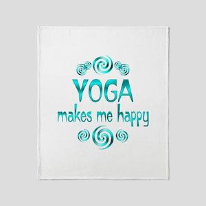 Yoga Happiness Throw Blanket