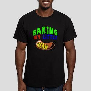 Baking My Bean Men's Fitted T-Shirt (dark)
