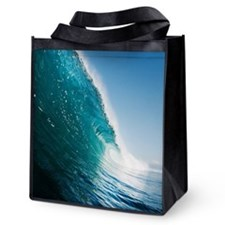 Breaking Wave Reusable Grocery Tote Bag