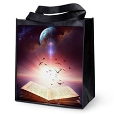 Fantasy Storybook Reusable Grocery Tote Bag