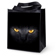Cat Eyes Reusable Grocery Tote Bag