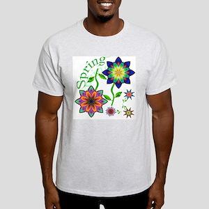 Spring Flowers Ash Grey T-Shirt