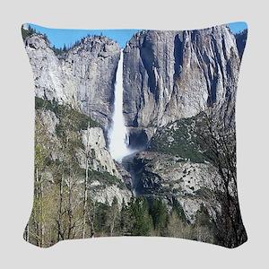 Yosemite Falls Woven Throw Pillow