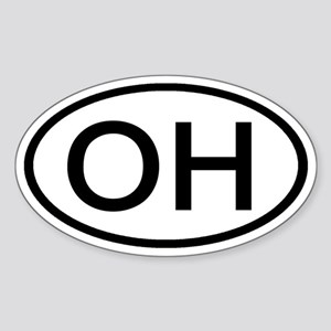 Ohio - OH - US Oval Oval Sticker