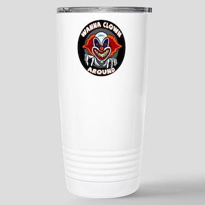 Evil Clown Stainless Steel Travel Mug