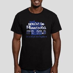 Minnesota Shut Up Men's Fitted T-Shirt (dark)
