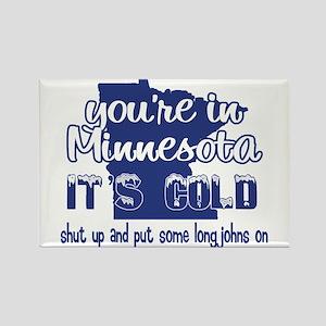 Minnesota Shut Up Rectangle Magnet