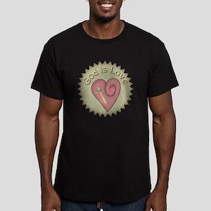 God Is Love Men's Fitted T-Shirt (dark)
