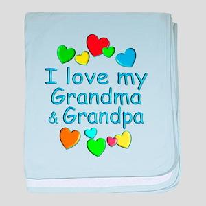 Grandma & Grandpa baby blanket