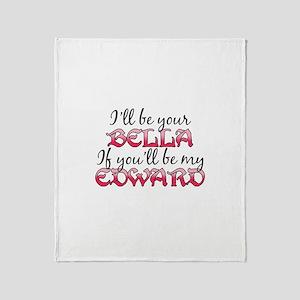 Be My Edward Twilight Throw Blanket