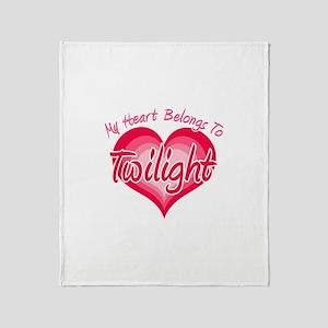 Heart Belongs Twilight Throw Blanket