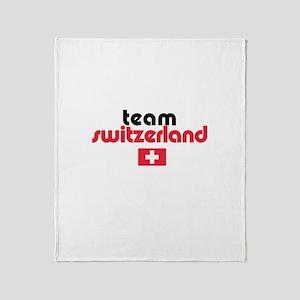 Team Switzerland Throw Blanket