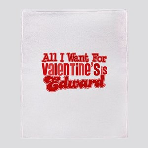 Edward Valentine Throw Blanket