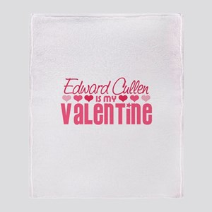 Edward Twilight Valentine Throw Blanket