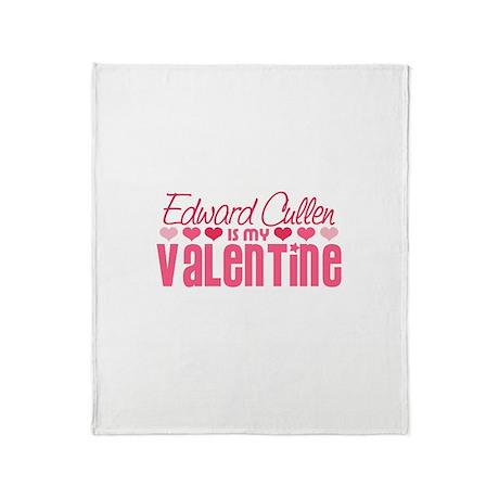 Edward Twilight Valentine Throw Blanket