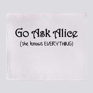 Go Ask Alice Twilight Throw Blanket