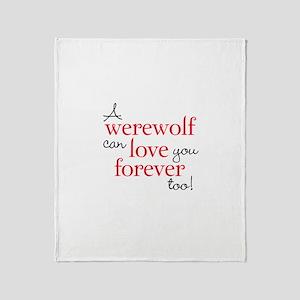 Werewolf Love Twilight Throw Blanket