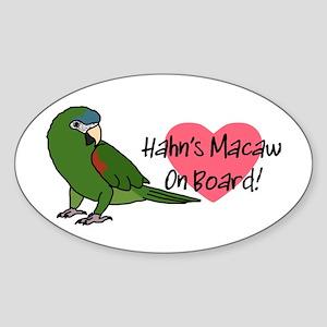 Hahn's Macaw On Board Oval Sticker
