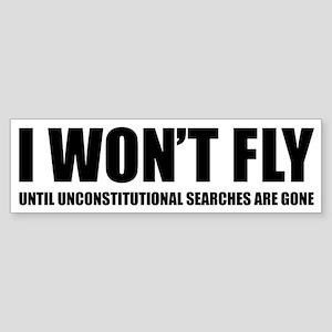 I won't fly Sticker (Bumper)