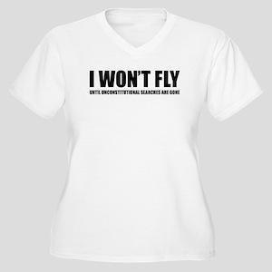 I won't fly Women's Plus Size V-Neck T-Shirt