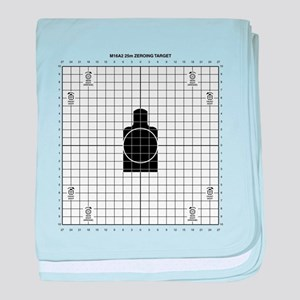 M16 Zero Target baby blanket
