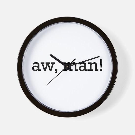 Aw, Man! Wall Clock