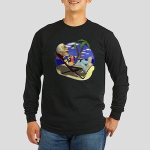 Retired Retirement Long Sleeve Dark T-Shirt