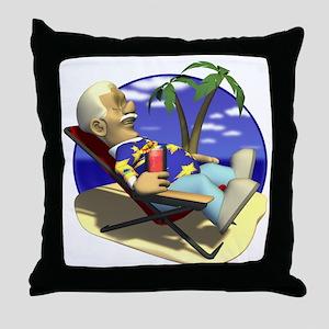 Retired Retirement Throw Pillow
