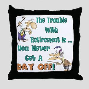 Retirement Days Throw Pillow