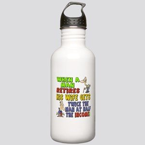 Retirement Income Stainless Water Bottle 1.0L