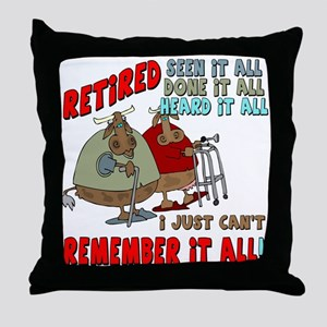 Retirement Memory Throw Pillow