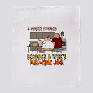 Retired Husband Throw Blanket