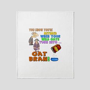 Retirement Oat Bran Throw Blanket