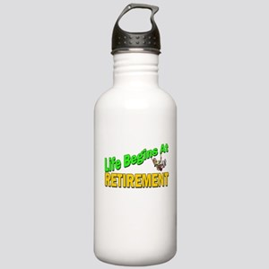 Life Begins At Retirment Stainless Water Bottle 1.