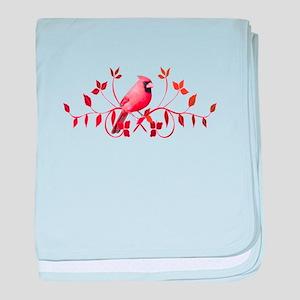 Graceful Cardinal baby blanket