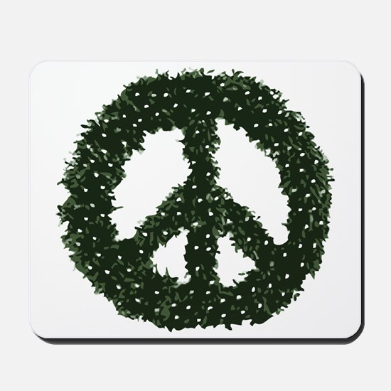 Peace Wreath Mousepad