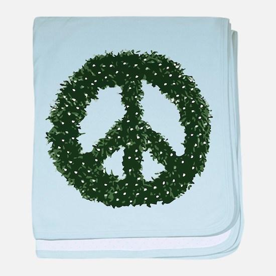 Peace Wreath baby blanket