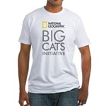 Big Cats Initiative Fitted White T-Shirt